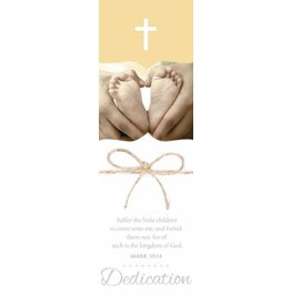 Broadman Bookmark - For Of Such Is The Kingdom Of God - Child Dedication (Pack of 25) 081407014258