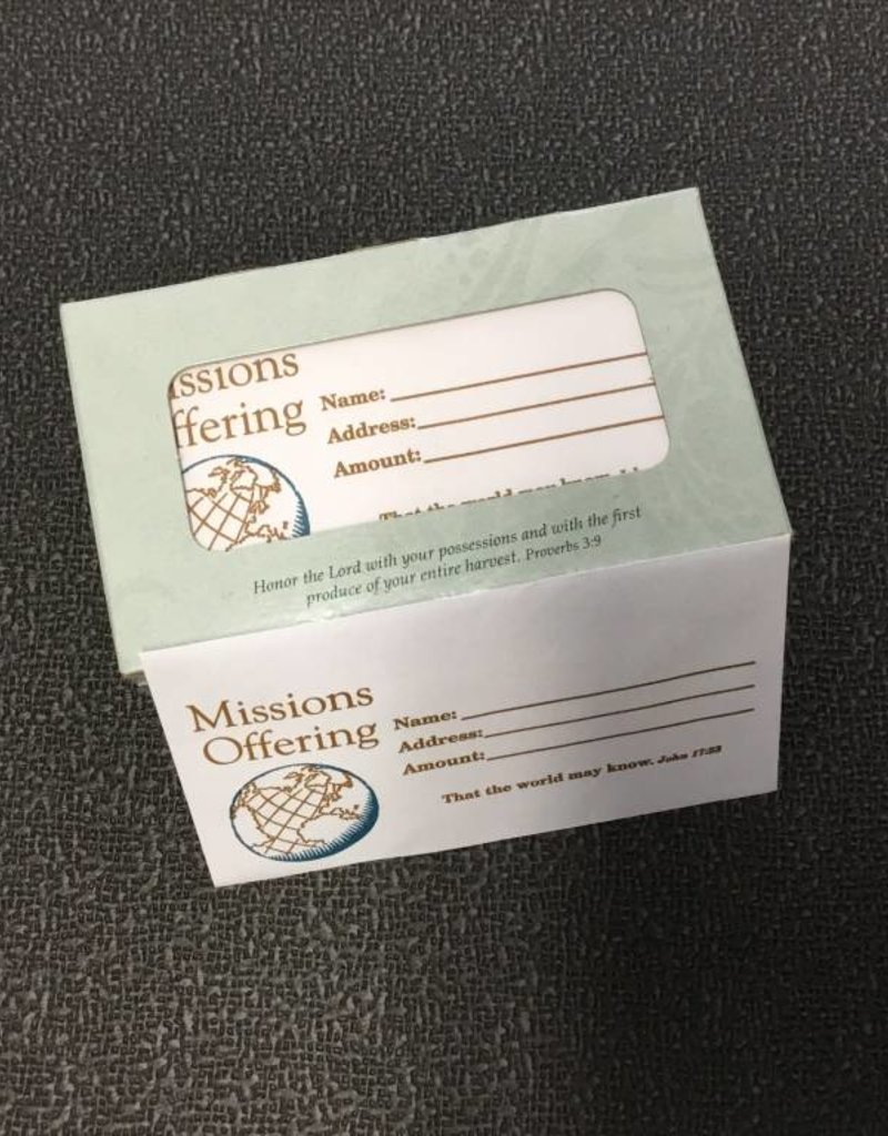 B & H Publishing Offering Envelopes Missions 1/2size