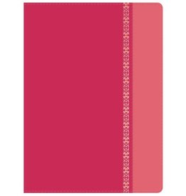 Span-RVR 1960 Holman Study Bible (Full Color)-Fuchsia-Rose with Filigree LeatherTouch