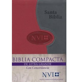 Biblica Publishing Span-NIV*Larger Print Bible (Letra Grande NVI)-Gray/Brick DuoTone