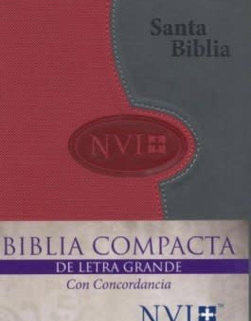 Biblica Publishing Span-NIV*Larger Print Bible (Letra Grande NVI)-Gray/Brick DuoTone
