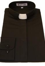 501 Women's Long Sleeve Tab-Collar Clergy Shirt Black 16