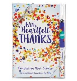 CTA With Heartfelt Thanks Book/Pen Set