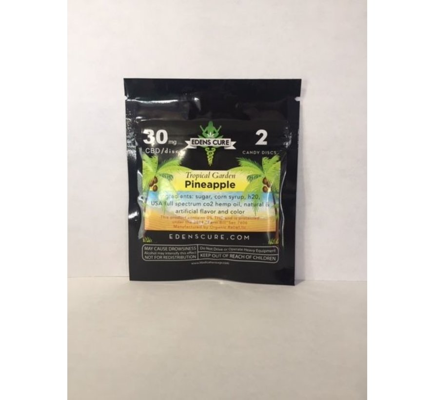 Edens Cure 30mg 2pk Candy - Pineapple