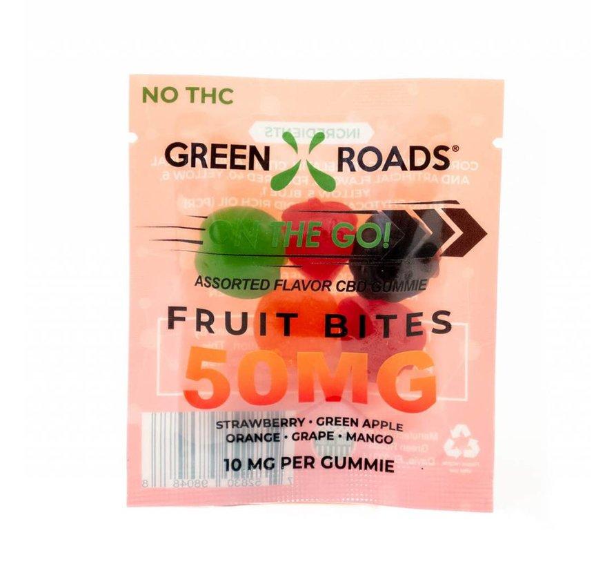 Green Roads On The Go Fruit Bites - 50 mg