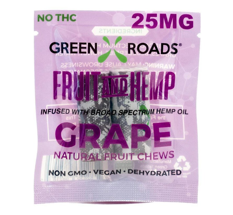 Green Roads Fruit and Hemp To Go 25 mg - Grape