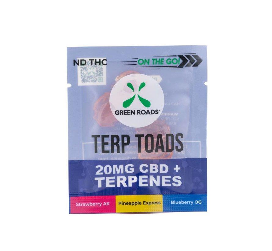 Green Roads OTG Terp Toads - 20mg CBD + Terpenes