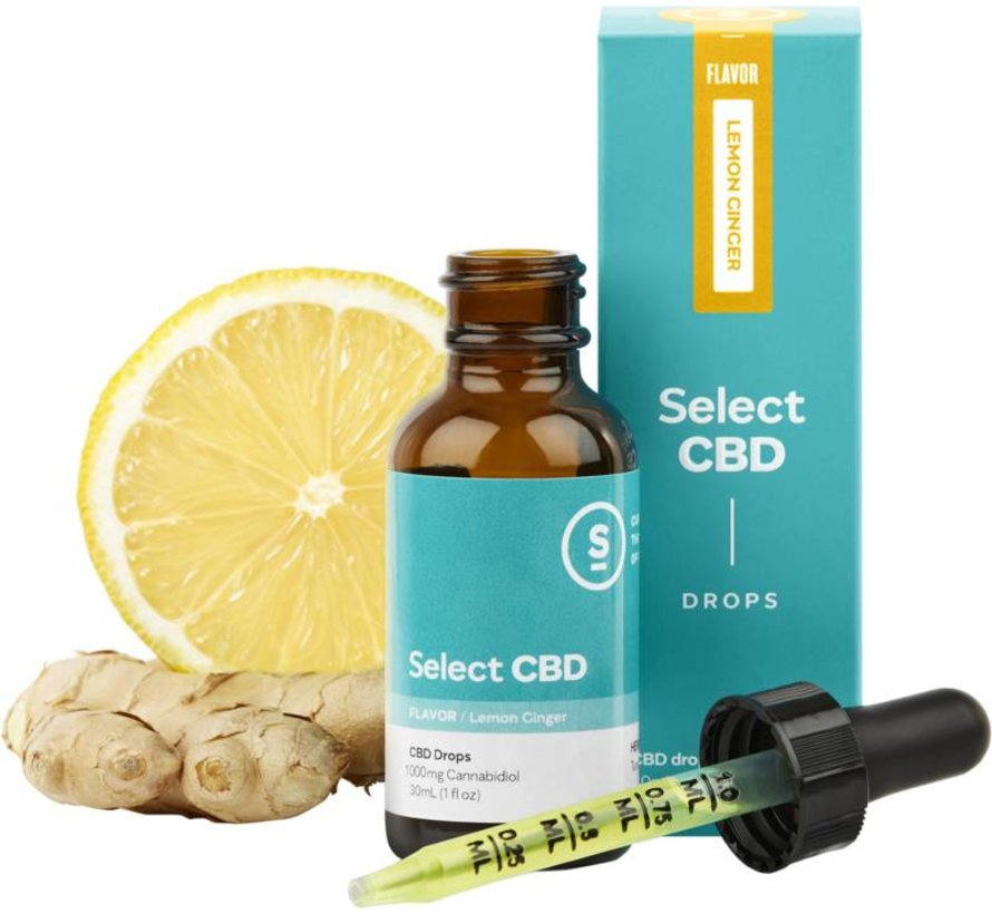 Select CBD 1000mg Drops - Lemon/Ginger