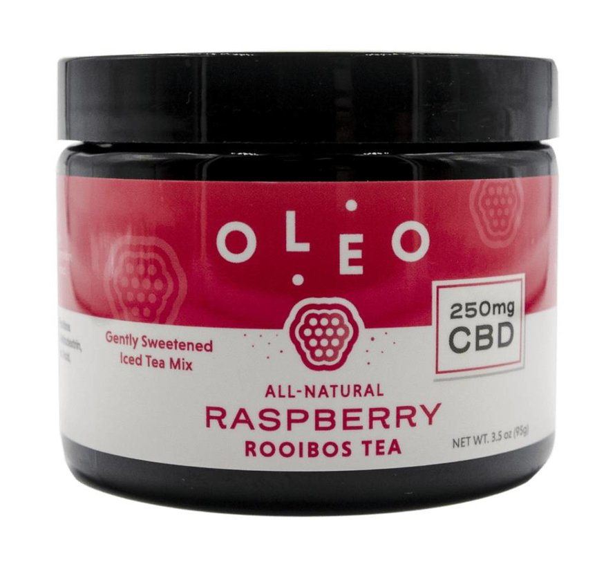 Oleo 250mg CBD Rooibos Tea - Raspberry