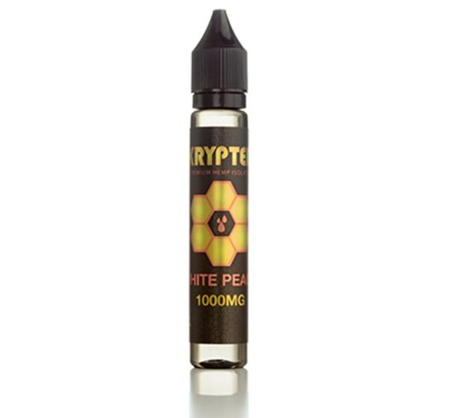 Krypted 1000mg Vape Juice - White Peach