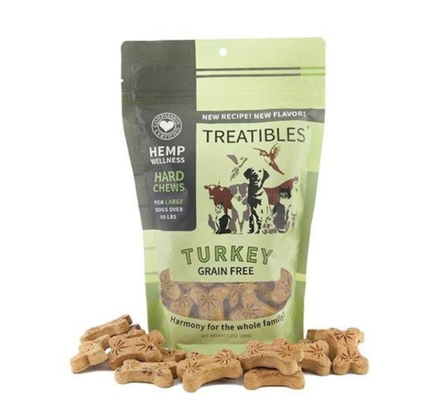 Treatibles Turkey Dog Biscuit - Large