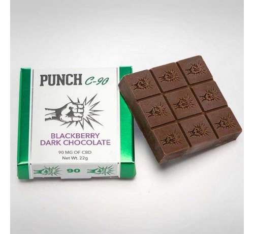 Punch Edibles Punch C-90 mg Bars - Blackberry Dark Chocolate