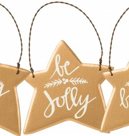 Star Ornaments gold - Be Merry