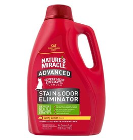 Nature's Miracle Advanced Just for Cats Stain & Odor Remover Pour Sun Lemon 128oz