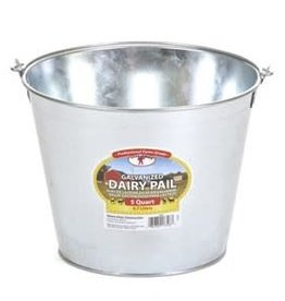 PAIL 5 QUART DAIRY GALVANIZED GP5 MILLER 1/CS
