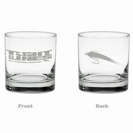 Tight Lines Whiskey Glass 11oz