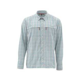 Simms Stone Cold Shirt - Celadon Plaid Medium