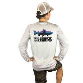PATAGONIA T.L. Logo Graphic Tech Fish Tee - Fitz Roy Trout/Drifter Grey