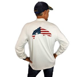 SolarFlex LS Crewneck USA Trout White
