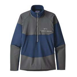 PATAGONIA Men's R1 Fitz Roy 1/4 Zip-Stone Blue