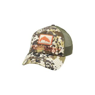 Trout Icon Trucker - River Camo