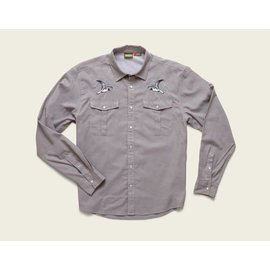 Howler Gaucho Snapshirt Cement Grey Oxford Seagull XXL