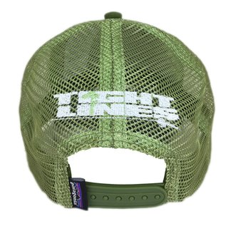 PATAGONIA Patagonia/Tight Lines Small Text Logo LoPro Trucker Hat Sprouted Green