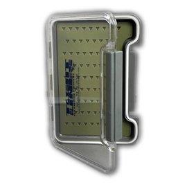 Thin Clear Fly Box W/ Self Healing Liner Waterproof Box
