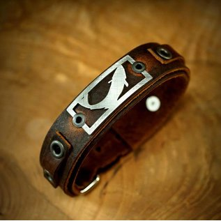 The Catch Bracelet Trout- Brown Leather