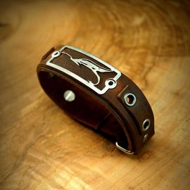 The Catch Bracelet The Streamer-Brown Leather