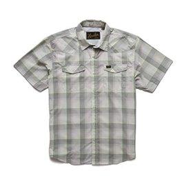 Howler Brothers H Bar B Tech Shirt Devils Plaid Cloudy Grey Green