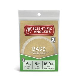 Scientific Anglers Bass 9' Leader 2pk