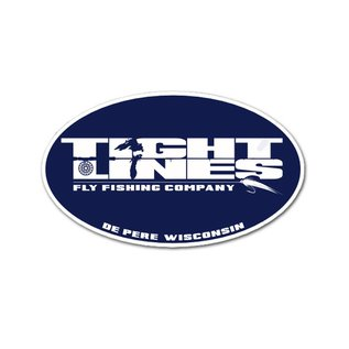Tight Lines Oval Decal