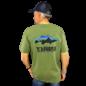 PATAGONIA Patagonia Fitz Roy Smallmouth Responsibili-Tee - Tight Lines Logo Greenie Green
