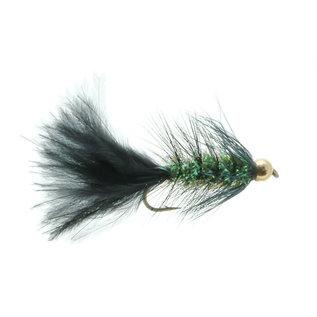 Bead Head Krystal Body Bugger Black/Olive - Sz 6