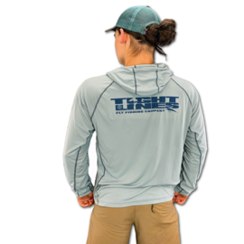 SImms Bugstopper Solarflex Hoody - Tight Lines Logo Grey Blue