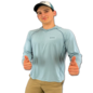 SImms Bugstopper Solarflex Hoody - Tight Lines Logo Grey Blue