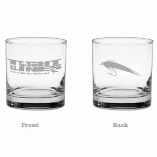 Tight Lines Whiskey Glasses 11oz
