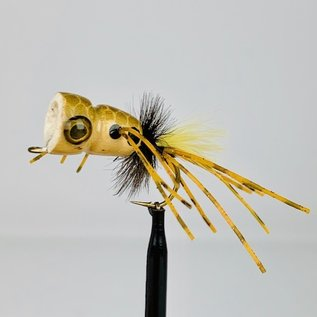 Custom Balsa Frog Popper - Brown Frog Sz. 2