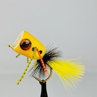 Custom Balsa Bass Popper - Yellow Sz. 4
