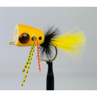 Custom Balsa Bass Popper - Yellow Sz. 4