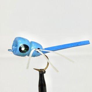 Custom Balsa Damsel Popper - Damsel Blue  Sz. 6