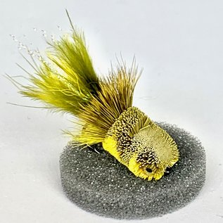Lash's Mini Hair Slider - Olive/Yellow