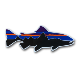 Patagonia Fitzroy Trout Decal-8 inches