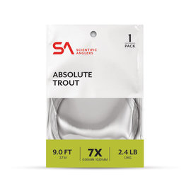 SA Absolute Trout Leader 1PK  7.5 FT