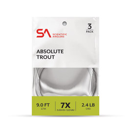 SA Absolute Trout Leader 3PK 7.5FT