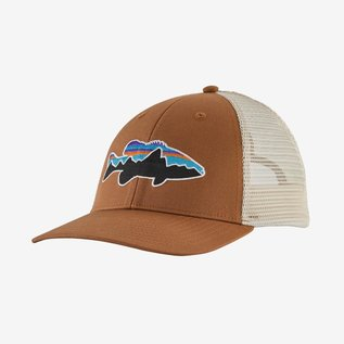 Fitz Roy Smallmouth LoPro Trucker Hat Earthworm Brown
