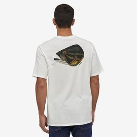PATAGONIA Patagonia Fish Noggins Organic T-Shirt White w/Smallmouth Noggin