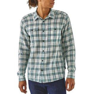 Patagonia Men's Long-Sleeved Steersman Shirt Boondocks:  Dam Blue- LARGE