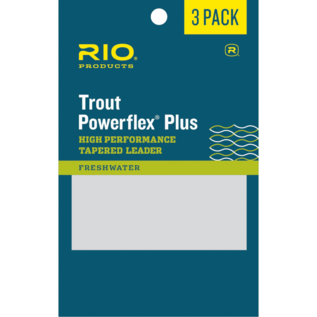 9' Rio Powerflex Plus Leader 3 Pack